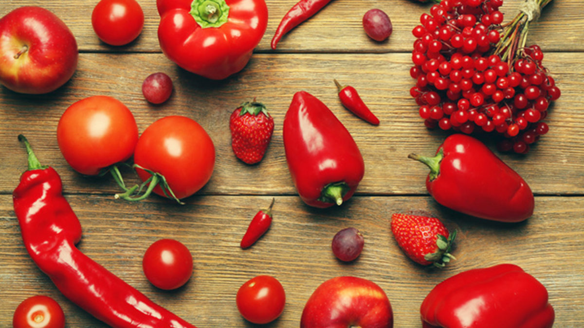 Овощи красного цвета и ликопин