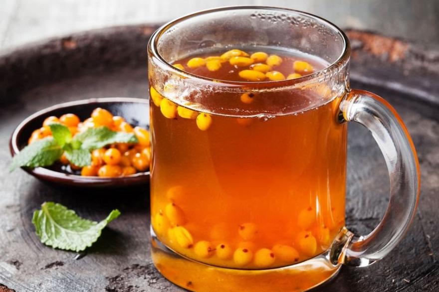 Согревающий облепиховый чай